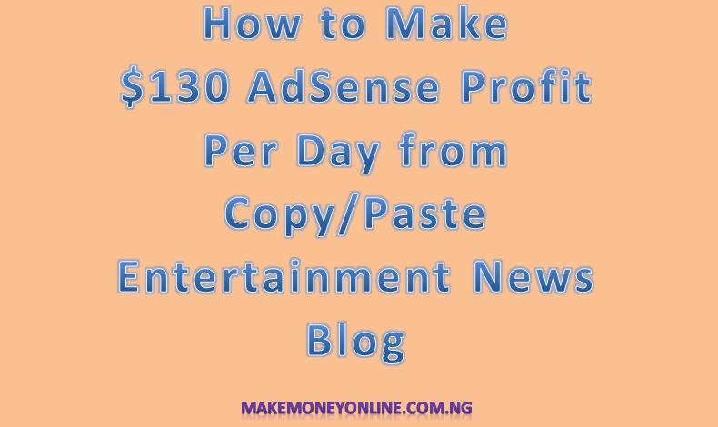 130 Dollar AdSense Profit