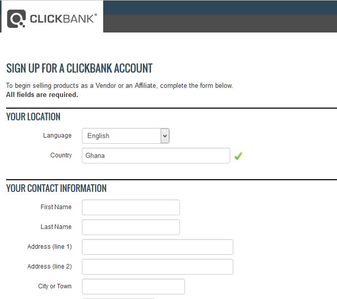 CLickbank Signup