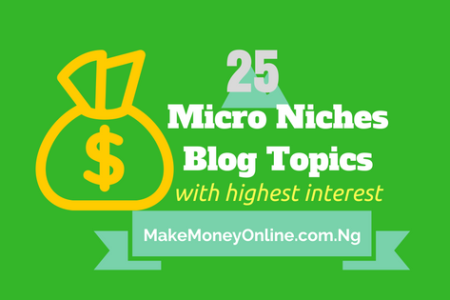 List of Top 25 Micro Niches Blog Topics with Highest Interest in Nigeria