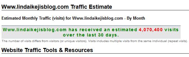 Www.lindaikejisblog.com Traffic Estimate