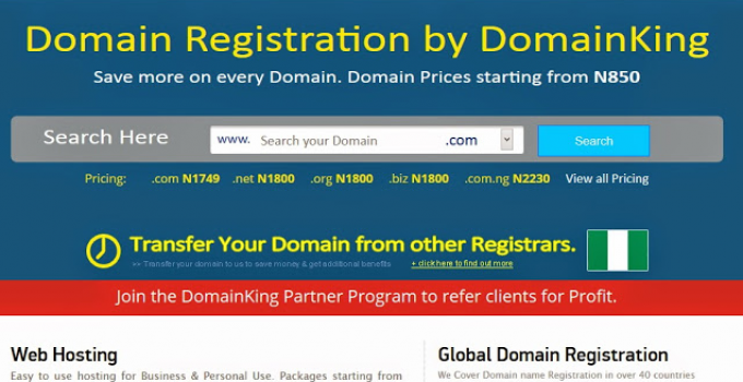 DomainKing.NG Review: Domains, Hosting, Pricing